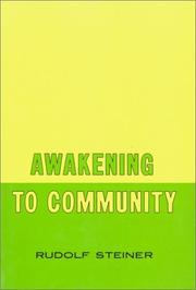 Cover of: Awakening to community