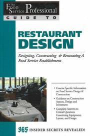 Cover of: The Food Service Professionals Guide to Restaurant Design | Sharon L. Fullen