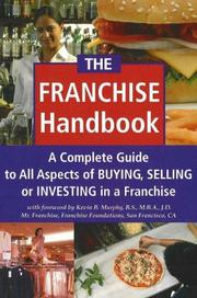 Cover of: The Franchise Handbook | Kevin B. Murphy