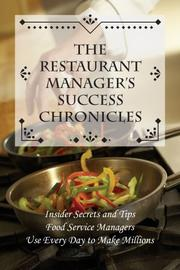 Cover of: The Restaurant Manager
