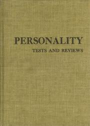 Cover of: Personality tests and reviews