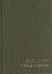 Cover of: English tests and reviews