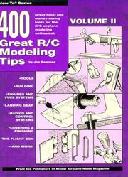 Cover of: 400 Great R/C Modeling Tips (Four Hundred Great R-C Modeling Tips) | Jim Newman