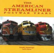 Cover of: American streamliner | Donald J. Heimburger