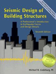 Cover of: Seismic design of building structures