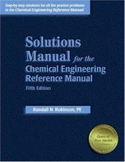 Cover of: Solutions manual for the Chemical engineering reference manual