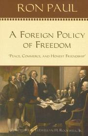 Cover of: A Foreign Policy of Freedom: Peace, Commerce, and Honest Friendship