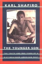 Cover of: The Younger Son (Shapiro, Karl Jay//Poet) | Karl Jay Shapiro
