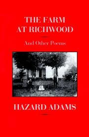 Cover of: The farm at Richwood and other poems