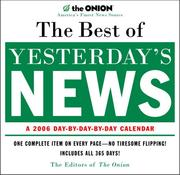Cover of: The Best of Yesterday's News