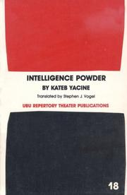 Cover of: Intelligence powder