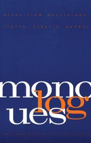 Cover of: Monologues |