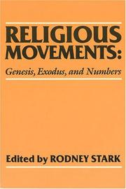 Cover of: Religious Movements: Genesis, Exodus, and Numbers