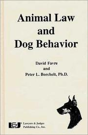 Cover of: Animal law and dog behavior