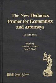 Cover of: The New Hedonics Primer for Economists and Attorneys, Second Edition |