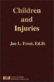 Cover of: Children and injuries