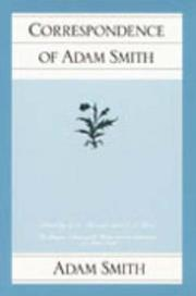 Cover of: The correspondence of Adam Smith