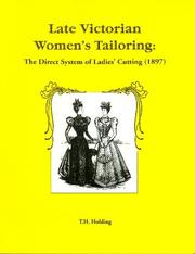 Cover of: Late Victorian women's tailoring