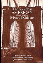 Cover of: The leafless American and other writings