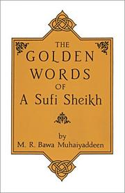 Cover of: The Golden Words of a Sufi Sheikh