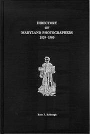 Cover of: Directory of Maryland photographers, 1839-1900