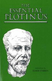 The essential Plotinus by Plotinus, Plotinus