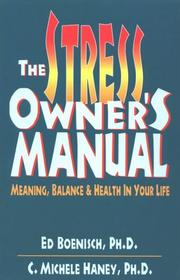 Cover of: The stress owner's manual
