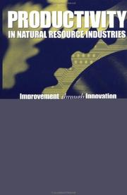 Cover of: Productivity in Natural Resource Industries | R. David Simpson