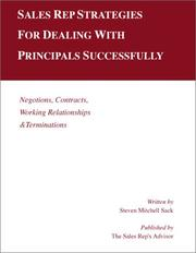 Cover of: Sales rep strategies for dealing with principals successfully