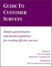 Cover of: Guide to customer surveys | Trevor M. Spunt