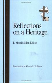 Cover of: Reflections on a Heritage