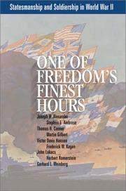 Cover of: One of Freedom's Finest Hours