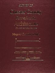 Cover of: Survey of Chester County, Pennsylvania architecture, 17th, 18th, and 19th centuries