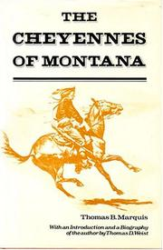 Cover of: The Cheyennes of Montana