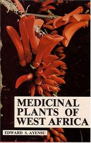 Cover of: Medicinal plants of West Africa