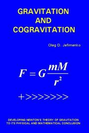 Cover of: Gravitation and Cogravitation