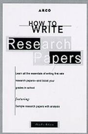 Cover of: How to Write Research Papers 2