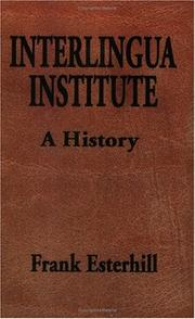 Cover of: Interlingua Institute