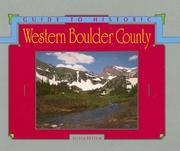 Cover of: Guide to historic western Boulder County