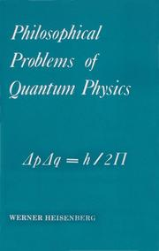Cover of: Philosophical Problems of Quantum Physics