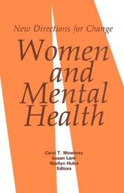 Cover of: Women and Mental Health | Carol T. Mowbray