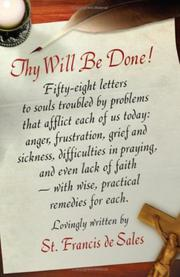 Cover of: Thy will be done: letters to persons in the world