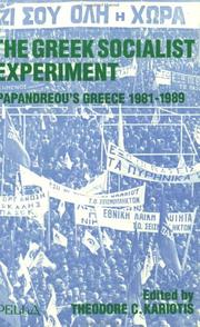 Cover of: The Greek Socialist Experiment | Theodore C. Kariotis