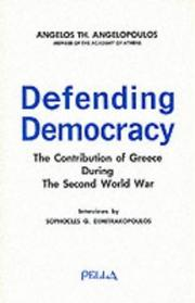 Cover of: Defending democracy