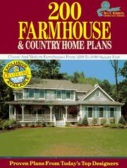Cover of: 200 Farmhouse and Country Home Plans | Home Planners Inc