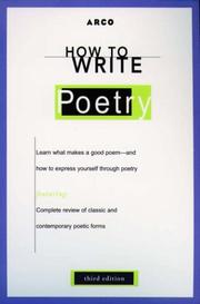 Cover of: How to Write Poetry