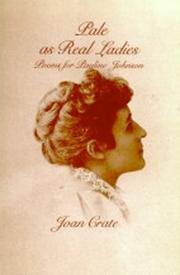 Cover of: Pale As Real Ladies: Poems for Pauline Johnson