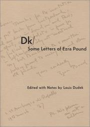 Cover of: Dk-some letters of Ezra Pound