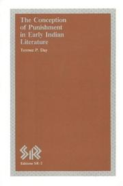 Cover of: conception of punishment in early Indian literature | Terence P. Day