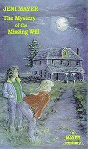 Cover of: Mystery of the Missing Will